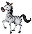 cute zebra cartoon walking vector image