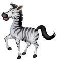 cute zebra cartoon walking vector image vector image