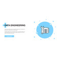 data engineering icon banner outline template vector image