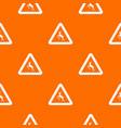 deer traffic warning sign pattern seamless vector image vector image