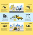 digital blue yellow construction vector image