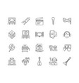 entertaiments line icons signs set vector image vector image