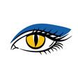 eye on white background eyes art eye icon human vector image