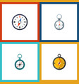 flat icon direction set of navigation direction vector image vector image