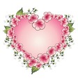 Floral frame with heart vector image vector image