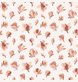 floral seamless pattern with magnolia flowers vector image