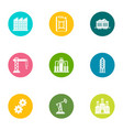 formation icons set flat style vector image vector image
