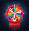 fortune wheel and lucky spin games casino vector image