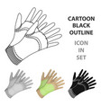 garden gloves to work with the land in the garden vector image vector image