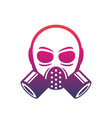gas mask icon sign over white vector image