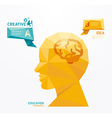 geometric Modern Design head style infographic vector image vector image