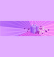 gift box on violet template background for you vector image