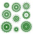green ornamental circles oriental geometric vector image vector image