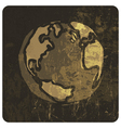 grunge earth symbol hand drawn vector image vector image