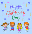 happy childrens day style collection vector image vector image