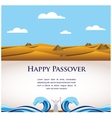 happy Passover- Out of the Jews from Egypt vector image vector image