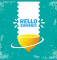 hello summer beach party flyer design vector image vector image