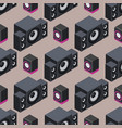 home isometric sound system stereo acoustic 3d vector image
