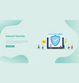 internet security and data digital protection for vector image vector image