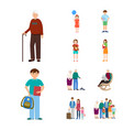 Isolated object of family and people symbol set