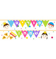 jewish holiday of purim banner with children vector image