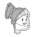 knight cartoon icon vector image vector image