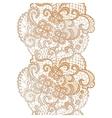 Lacy elegant watercolor border Lacy vintage trim vector image vector image