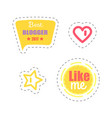 like me and best blogger award sticker vector image vector image