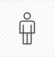 man icon isolated on transparent background vector image vector image