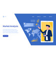 market analysis webpage template vector image vector image