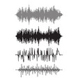 music background of audio sound waves pulse vector image vector image