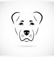 muzzle alabai dog on white background dog icon vector image