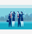office colleague concept business vector image