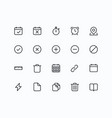 outline icons for web and mobile thin 2 pixel vector image vector image