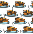 pancake with maple syrup canadian breakfast vector image vector image
