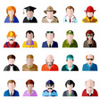 people icon set men and women avatar flat icons vector image vector image