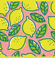 retro pattern with lemons vector image vector image