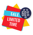 sale limited time up to 60 off image vector image vector image