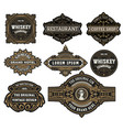 set logos labels and banners layered vector image vector image