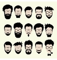 Set of hipster style haircut glasses