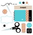 Sewing and Needlework accessories vector image