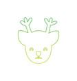 silhouette reindeer head to merry christmas vector image vector image