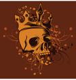 skull tshirt design vector image vector image