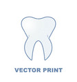 t-shirt print with the tooth for a dental clinic vector image vector image
