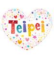 taipei capital city of taiwan vector image vector image