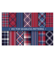 tartan set pattern seamless plaid geometric vector image