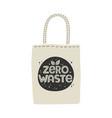 textile eco-friendly reusable shopping bag vector image vector image