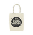 textile eco-friendly reusable shopping bag with vector image