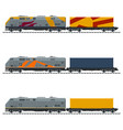 types of freight train vector image