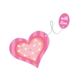 Valentine card with the label love vector image vector image